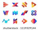 modern minimal vector logo for... | Shutterstock .eps vector #1119329144