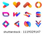 modern minimal vector logo for... | Shutterstock .eps vector #1119329147