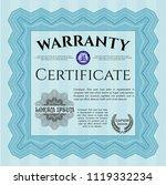 light blue retro warranty... | Shutterstock .eps vector #1119332234