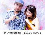 attractive beautiful woman or... | Shutterstock . vector #1119346931