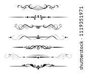 set of decorative dividers ... | Shutterstock .eps vector #1119351971
