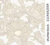 floral seamless pattern.... | Shutterstock .eps vector #1119352559