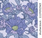 floral seamless pattern.... | Shutterstock .eps vector #1119352565