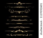 set of design gold elements and ... | Shutterstock .eps vector #1119352601
