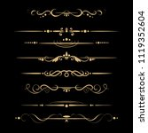 set of design gold elements and ... | Shutterstock .eps vector #1119352604