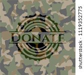 donate on camouflaged pattern | Shutterstock .eps vector #1119352775
