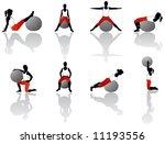 illustration of pilates exercise   Shutterstock .eps vector #11193556