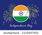 happy india independence day... | Shutterstock . vector #1119357431