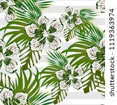flowers tropical pattern | Shutterstock .eps vector #1119363974