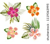 flowers tropical pattern | Shutterstock .eps vector #1119363995