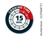 15 minutes cooking time... | Shutterstock .eps vector #1119368717