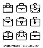 briefcase icon set | Shutterstock .eps vector #1119369254