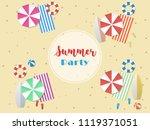 vector greeting card summer... | Shutterstock .eps vector #1119371051