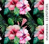 bright green herbal tropical... | Shutterstock . vector #1119371081