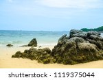 the sea and rocks at koh larn ... | Shutterstock . vector #1119375044