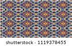 ikat geometric folklore... | Shutterstock .eps vector #1119378455