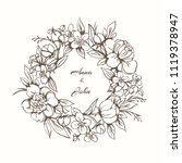 elegant floral monogram design... | Shutterstock .eps vector #1119378947