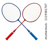 badminton racket isolated on... | Shutterstock . vector #1119381707