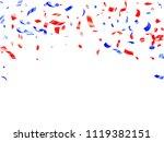 red blue glitter confetti... | Shutterstock .eps vector #1119382151