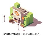 vector isometric dairy store or ... | Shutterstock .eps vector #1119388514