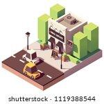 vector isometric real estate... | Shutterstock .eps vector #1119388544