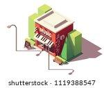 vector isometric musical... | Shutterstock .eps vector #1119388547