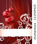 red abstract christmas...   Shutterstock . vector #111939425