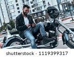 biking is in his blood.... | Shutterstock . vector #1119399317