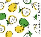 pears vector seamless pattern.... | Shutterstock .eps vector #1119402527