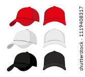 caps mock up collection design | Shutterstock .eps vector #1119408317
