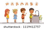 children are washing.... | Shutterstock .eps vector #1119412757