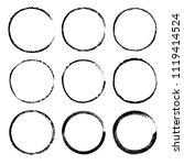 grunge circle frames. round... | Shutterstock .eps vector #1119414524