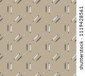pen seamless pattern.... | Shutterstock .eps vector #1119428561