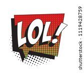 abbreviation lol   laugh out... | Shutterstock .eps vector #1119428759