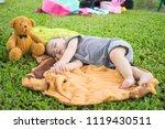 cute little boy sleep. subject... | Shutterstock . vector #1119430511