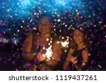 abstract blurred of sparklers... | Shutterstock . vector #1119437261