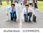 business competition front view ... | Shutterstock . vector #1119440291