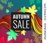 autumn discounts  background... | Shutterstock .eps vector #1119441194