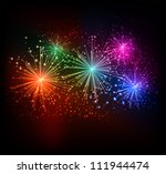 firework background | Shutterstock .eps vector #111944474