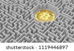 bitcoin laying down somewhere... | Shutterstock . vector #1119446897