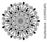 mandalas for coloring  book....   Shutterstock .eps vector #1119451691