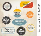 set of retro badge and labels....