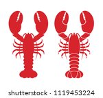 lobster logo. isolated lobster... | Shutterstock .eps vector #1119453224