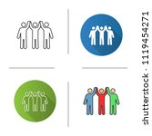 charity organization icon. flat ... | Shutterstock .eps vector #1119454271