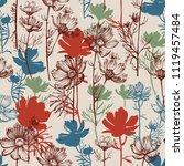 floral seamless pattern. hand...   Shutterstock .eps vector #1119457484