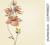 flowers greeting card   Shutterstock .eps vector #1119458027