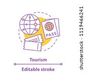 tourism concept icon. travel... | Shutterstock .eps vector #1119466241