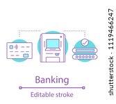 banking concept icon. cashless... | Shutterstock .eps vector #1119466247