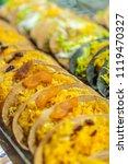 thai crispy pancake  kanom... | Shutterstock . vector #1119470327