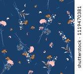 beautiful sweet wild flower... | Shutterstock .eps vector #1119470381